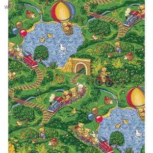 Палас принт Малиновка, размер 200х350 см, цвет зелёный, полиамид 1470922
