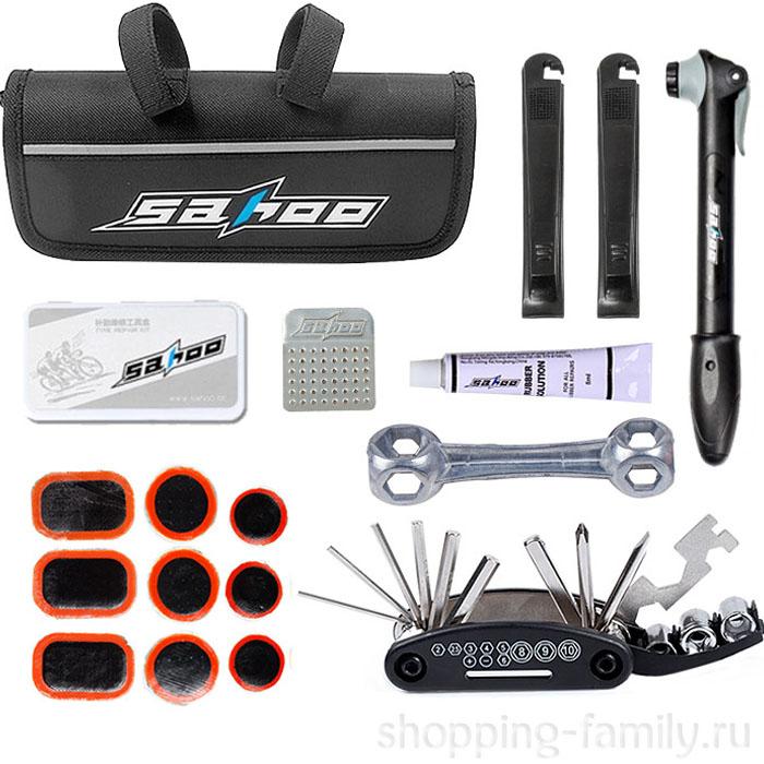 Набор инструментов для ремонта велосипеда в чехле Sahoo