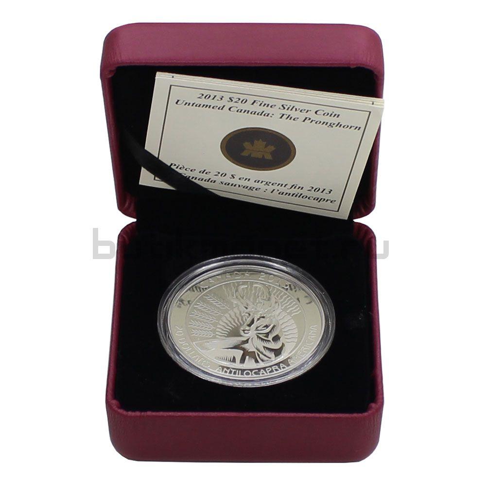 20 долларов 2013 Канада Вилорог (В футляре)