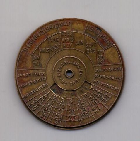 вечный календарь 1934 -1945 года Латвия Германия