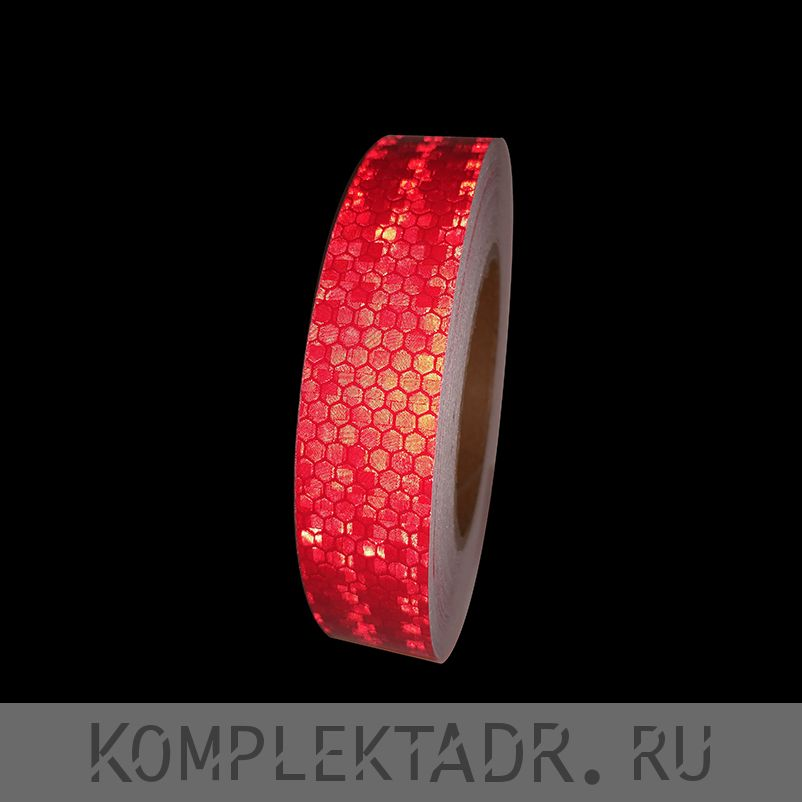 Светоотражающая лента 0,025х25 м красная (Арт.: 20003)