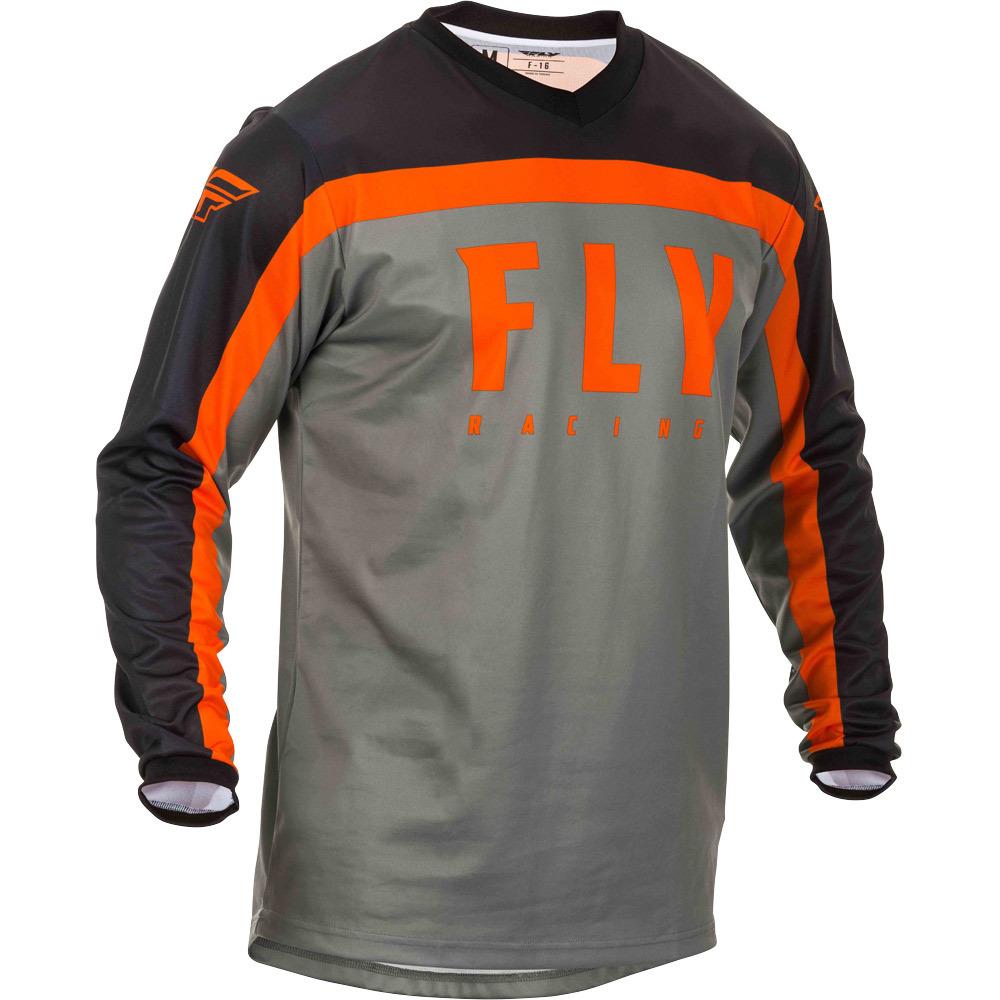 Fly - 2020 F-16 Grey/Black/Orange джерси, серо-черно-оранжевое