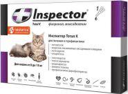 Инспектор Тотал К Капли от внешних и внутренних паразитов для кошек 8-15 кг