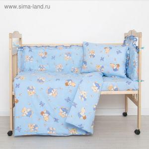 """Комплект """"Мишки с медом"""" (6 предметов), цвет голубой 61/1 1423992"""