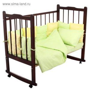"""Комплект в кроватку """"Мозаика"""" (4 предмета), цвета салатовый/лимонный 10407 1409152"""