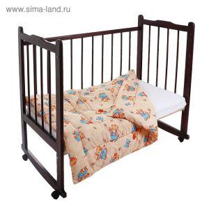 Одеяло стёганное, размер 110*140 см, цвет бежевый К32   1594771