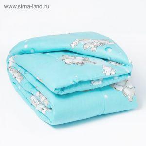 Одеяло, размер 110х140 см, цвет голубой (арт. 623)