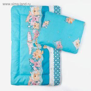 Комплект в коляску (матрасик 70*40 см, подушка 30*40 см), цвет МИКС К21 250г/м 1594753