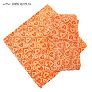 Набор для детской коляски 3 предмета, цвет оранжевый 22100   1385185