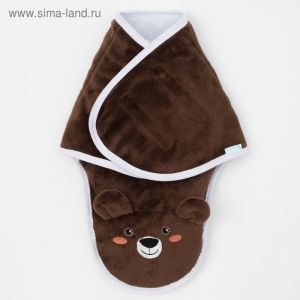 """Конверт-одеяло Крошка Я """"Бурый мишка"""", коричневый, рост 50-56 см   4027845"""