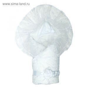 "Конверт-одеяло ""Диамант"" 105х105, цв белый, сатин хл100 1715/0 2831169"