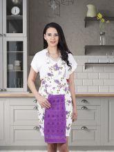 Фартук кухонный с салфеткой 30*50(фиолетовый) Арт.1128-3