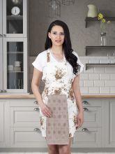 Фартук кухонный с салфеткой 30*50(кофейный) Арт.1128-4