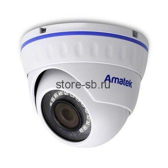 AC-IDV202M (2,8) Amatek Купольная антивандальная IP видеокамера, обьектив 2.8мм, 3/2Мп, Ик, POE, Слот для SD карты, встроенный микрофон