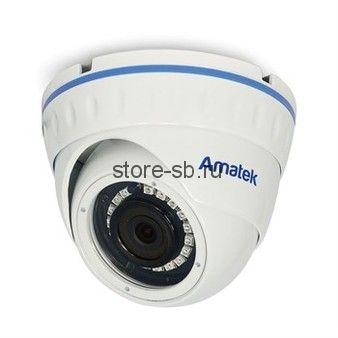 AC-IDV502A (2,8) Amatek Купольная антивандальная IP видеокамера, обьектив 2.8мм, 5Мп, Ик, POE, 1 аудиовход, выход для питания микрофона