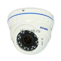 AC-IDV503VA (2,8-12) Amatek Купольная антивандальная IP видеокамера, обьектив 2.8-12 мм, 5Мп, Ик, POE, 1 аудиовход, выход для питания микрофона