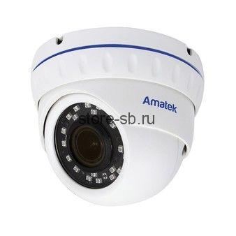 AC-IDV203ZA (2.7-13.5) Amatek Купольная антивандальная IP видеокамера, объектив 2.7-13.5мм, 3/2Мп, Ик, POE, аудиовход, выход для питания микрофона