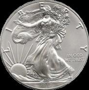 США. 1 доллар 2017. Шагающая свобода. Серебро 999 Унция ( 31,1 гр.).
