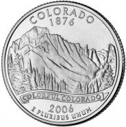 25 центов США 2006г - КОЛОРАДО, VF - Серия Штаты и территории