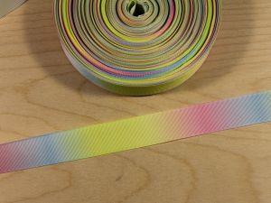 Репсовая лента с рисунком, градиент №1, ширина 25 мм, длина 10 метров, Арт. ЛР5817-25-1