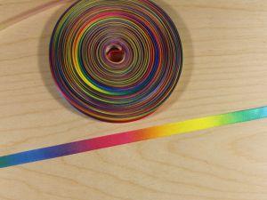 `Атласная лента с рисунком, градиент №2, ширина 09 мм, Арт. Р-АЛР0019-09-2