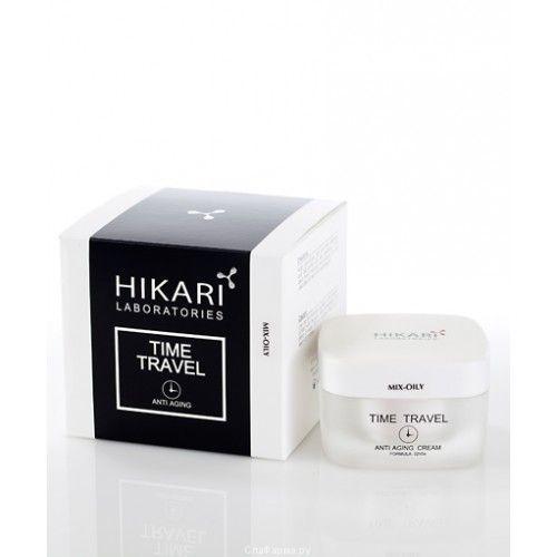 TIME TRAVEL Cream (mix-oily) Инновационный антивозрастной крем, возвращающий сияние молодости для жирной и комбинированной кожи Hikari (Хикари) 50 мл
