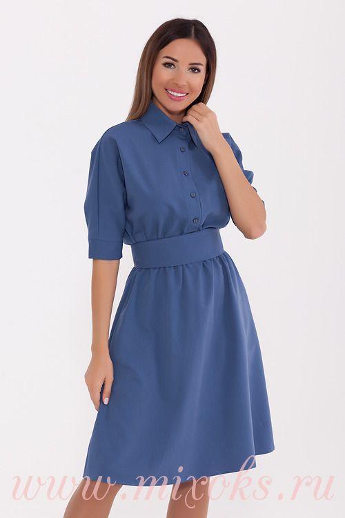 Платье рубашка джинсового цвета
