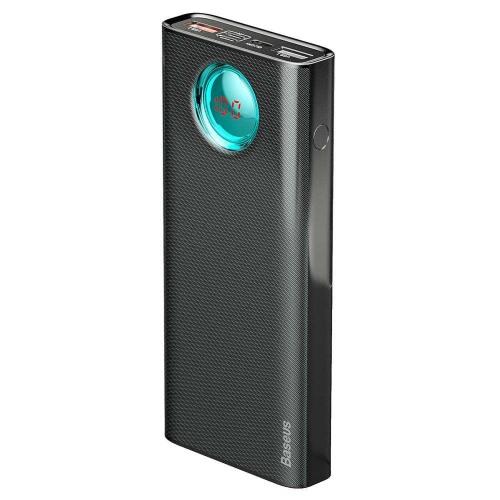 Внешний аккумулятор Baseus Amblight Quick Charge &large power digital display power bank 33W (PD3.0+QC3.0) 30000mAh (PPLG-01) Black