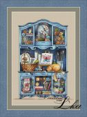 "Digital cross stitch pattern ""Handmade commode""."