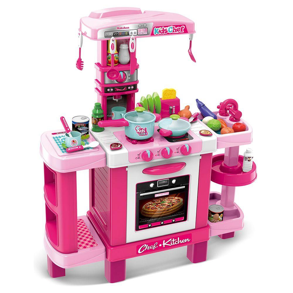 008-938 Кухня детская игровая интерактивная с микроволновкой, кофемашиной, тостером