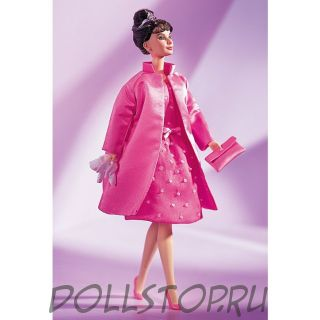 "Коллекционная кукла Барби Одри Хепберн в фильме ""Завтрак у Тиффани"" - Audrey Hepburn in Breakfast at Tiffany's Pink Princess Fashion"