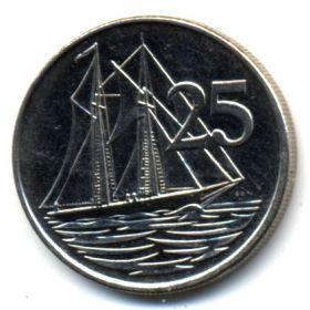 Каймановы острова 25 центов 2002