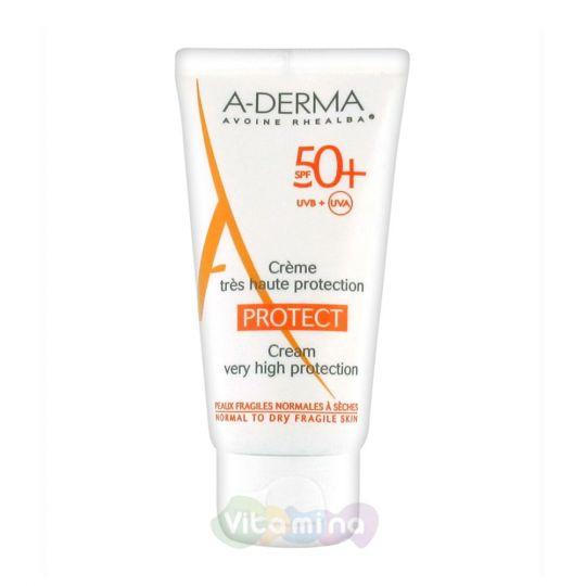 A-Derma Protect Cолнцезащитный крем SPF 50+, 40 мл