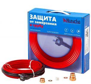 Готовый комплект кабеля NUNICHO Micro  внутрь трубы 10 Вт/м - 3 метра с вилкой и сальниковым узлом 1/2 и 3/4
