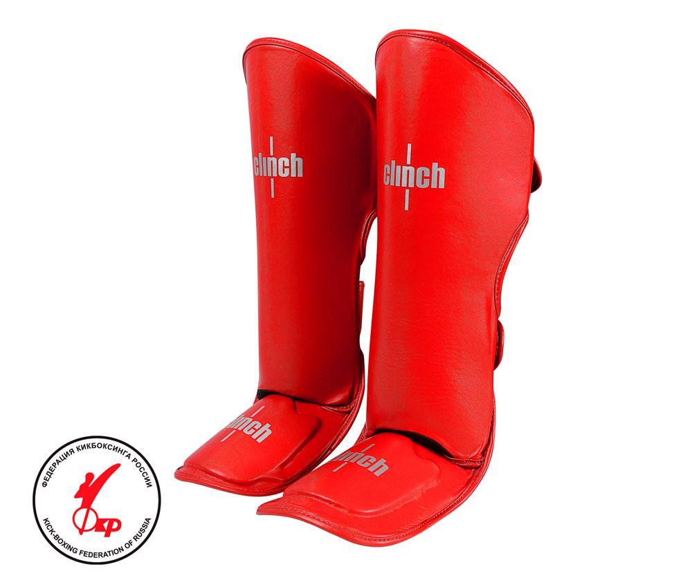 Защита голени и стопы Clinch Shin Instep Guard Kick красная, размер L, артикул C521