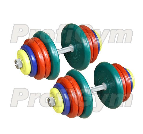 ГРЦ-50 Гантель разборная 50 кг цветная