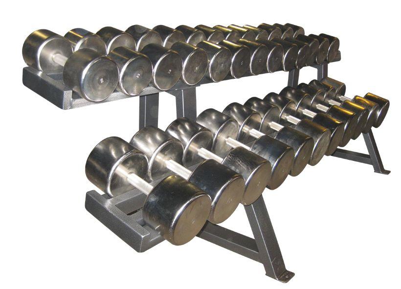 ГП-015 Гантельный ряд хромированный, от 12,5 до 40 кг