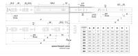Шариковые направляющие 400 мм DB4501Zn/400