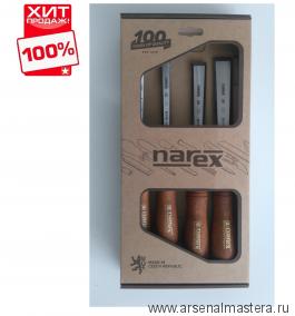 Набор из 4 столярных стамесок NAREX  PREMIUM в картонной коробке (6, 12, 20, 26 мм) 863201 ХИТ!