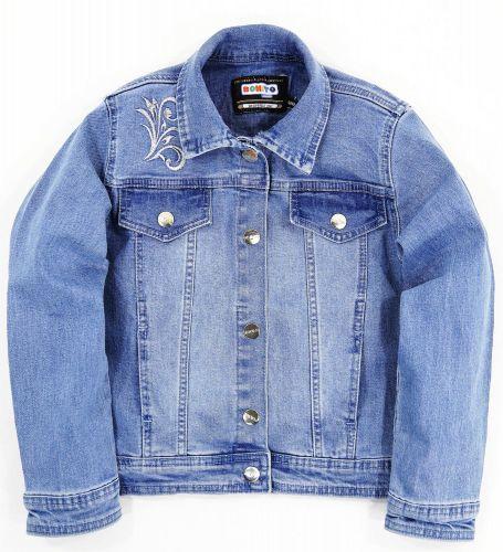 Пиджак джинсовый для девочек 7-10 лет Bonito Jeans голубой