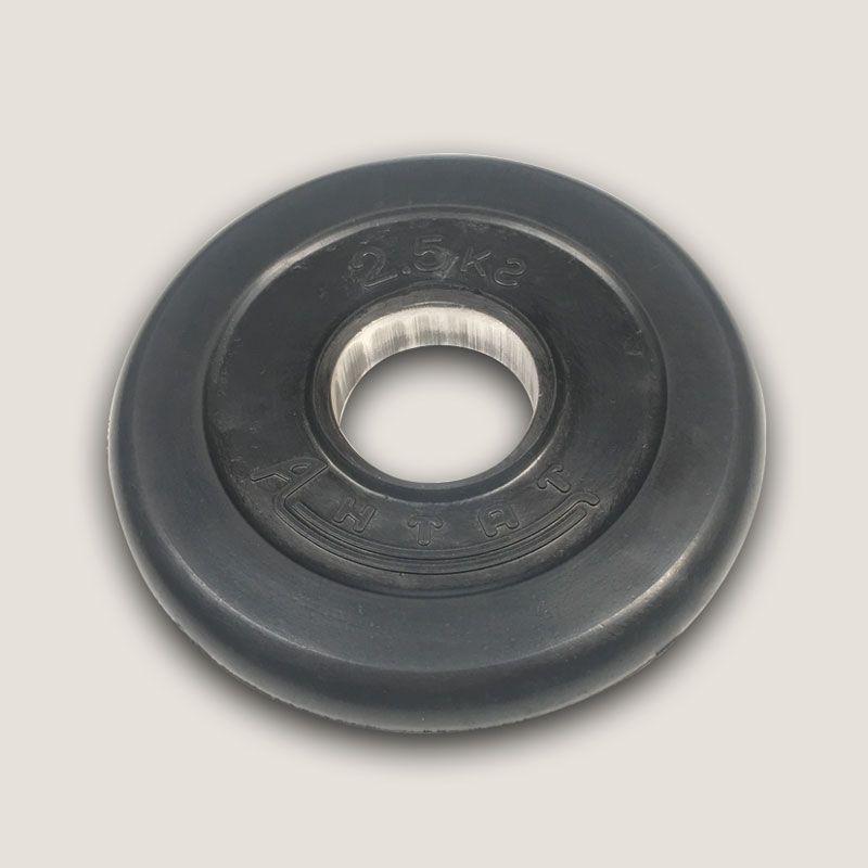 АН-2,5 Диск «Антат» тренировочный обрезиненный 2,5 кг, посадочный диаметр 26, 31, 51 мм