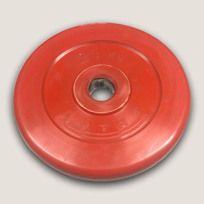 АНц-25 Диск «Антат» цветной обрезиненный 25 кг, посадочный диаметр 26, 31, 51 мм