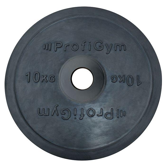 Диск 10 кг, для штанги олимпийский, черный