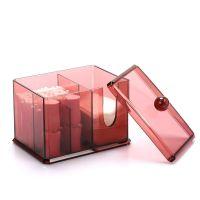 Акриловый контейнер для хранения мелочей Multi-Functional Storage Box QFY-3125, цвет бордовый (5)