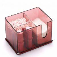 Акриловый контейнер для хранения мелочей Multi-Functional Storage Box QFY-3125, цвет бордовый (7)