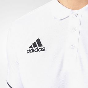 Футболка-поло adidas Tiro 17 Cotton Polo белая