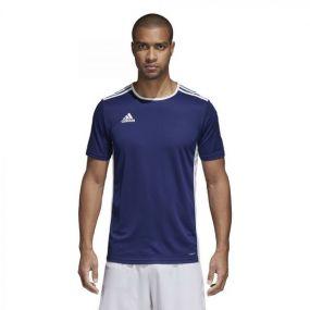 Детская игровая футболка adidas Entrada 18 тёмно-синяя