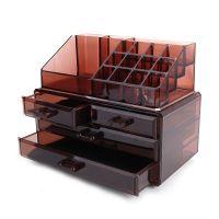 Акриловый органайзер для косметики Multi-Functional Storage Box QFY-3112, цвет бордовый (3)