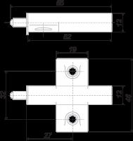 Упор-защелка фасадов с центральным креплением AMF02/W