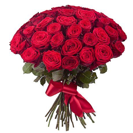 Букет из 51 красной розы «Жаркие чувства»